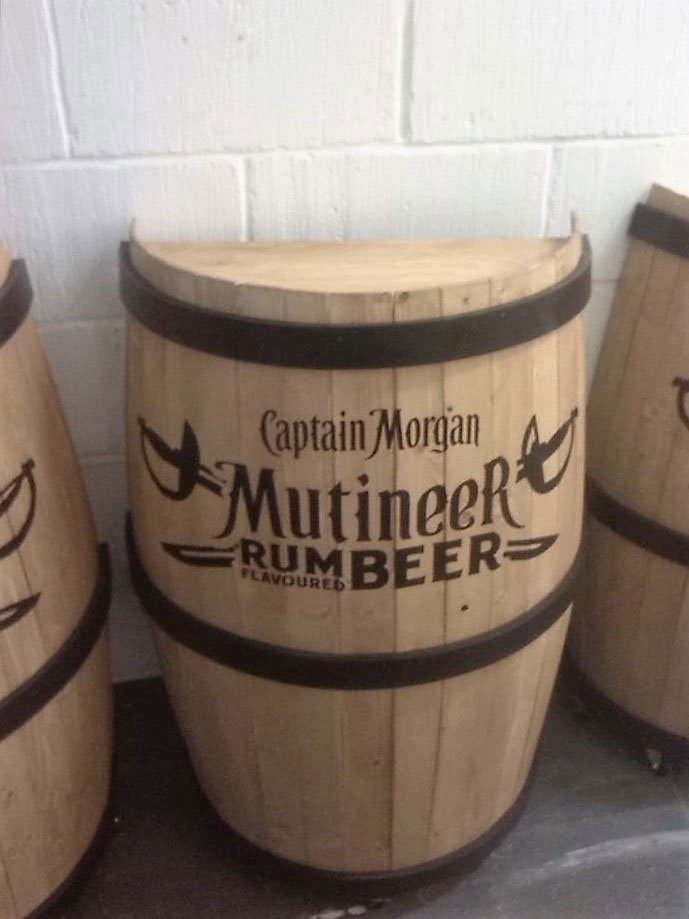 Bespoke half barrels and branding
