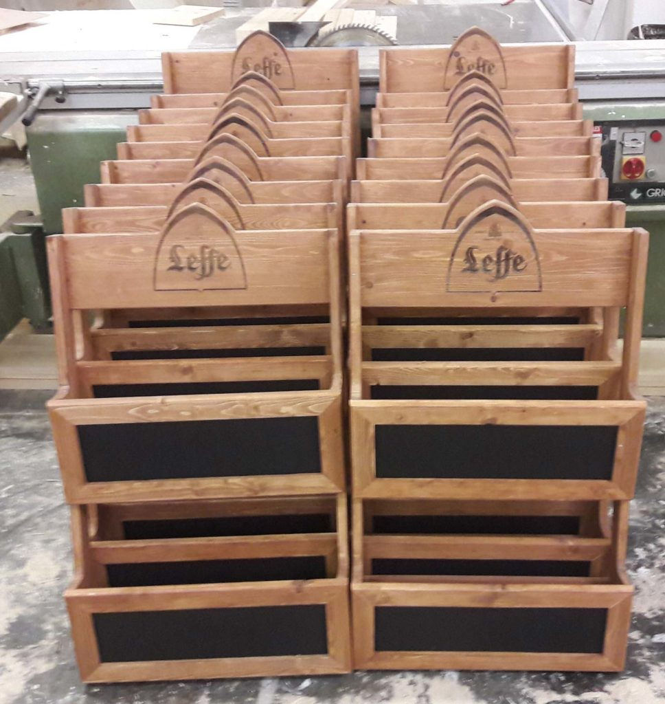 Leffe Magazine Holders - roll out
